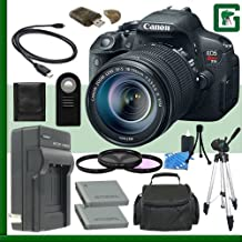 Canon EOS Rebel T5i Digital SLR Camera Kit With 18-55mm STM Lens Green's Camera Package 2
