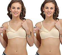 f6e9c97f7f2 Sona Feeding   Maternity Nursing Bra Cotton Skin   Skin( Pack of ...
