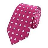 Fabio Farini ausgefallene 6 cm Krawatte in rosa mit weißen Punkten, Hochzeit, Abschlussball, Anzug