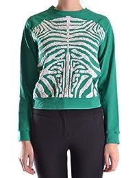 28.5 Women's MCBI001009O Green Cotton Sweatshirt