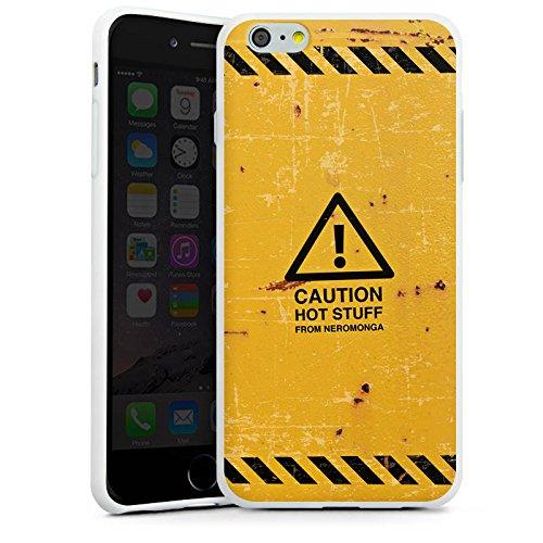 Apple iPhone X Silikon Hülle Case Schutzhülle Warnung Danger Orange Silikon Case weiß