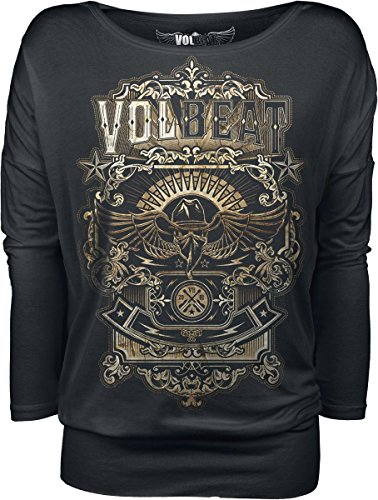 Volbeat Old Letters Manica lunga donna nero XL