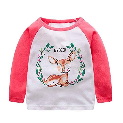 Cartoon Brief Tops Kleinkind Säugling Kinder Baby Jungen Mädchen T-Shirt Outfits Kleidung (4t Mädchen Skinny-jeans)