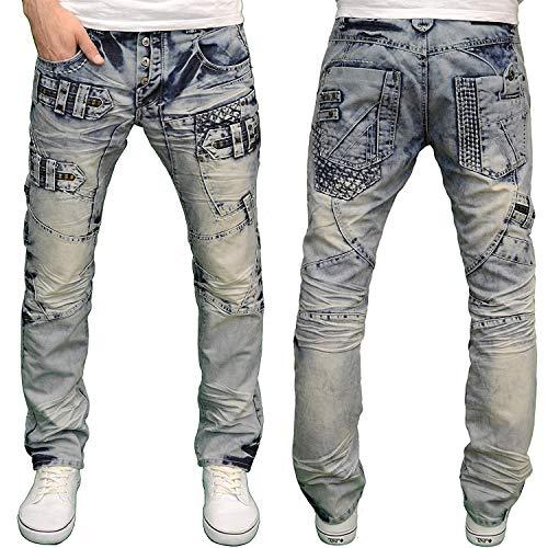c70e0d1b733d86 Eto Herren Straight Leg Jeanshose Gr. 38 W / 34 L, Light Stonewash