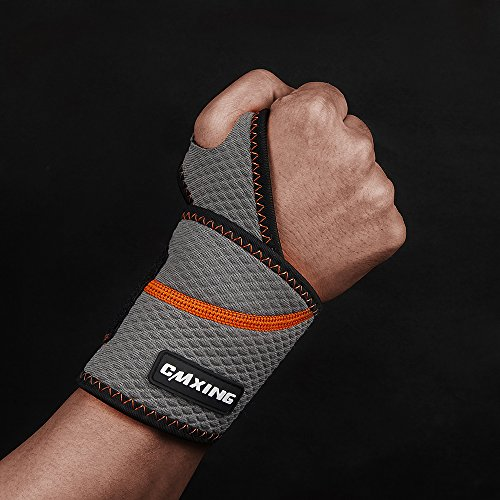 Wrist Support -CMXING Adjustable Neoprene Wrist Brace for Women and Men for Immediate Pain Relief Arthritis,Wrist Pain,Sprains,Sports Gym Crossfit Fits Left or Right Hand(1pcs) (L)