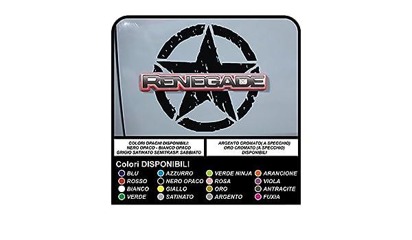 Aufkleber jeep renegade militär stern verbraucht tür auf das logo