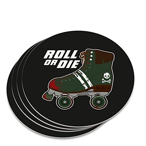 Untersetzer-Set mit Rollschuhen, Derby Roll or Die Combat Boots War Punk