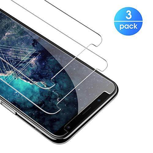 Premium gehärtetes Panzerglas für Samsung Galaxy J6 2018, Premium Schutzfolie HD Anti-Kratzer Glasfolie 9H Bildschirmschutzfolie für Samsung J6 2018 Folie aus Glas[Bubble-frei] [Anti Fingerabdruck]