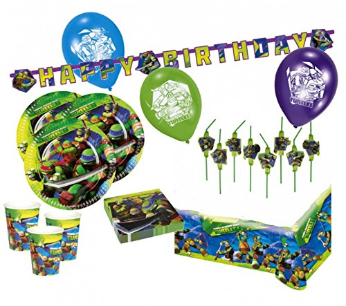 76 Teile XXL Ninja Turtles Party Deko Set 16 Kinder