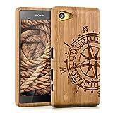 kwmobile Sony Xperia Z5 Compact Hülle - Handy Bambus Schutzhülle - Cover Case Handyhülle für Sony Xperia Z5 Compact