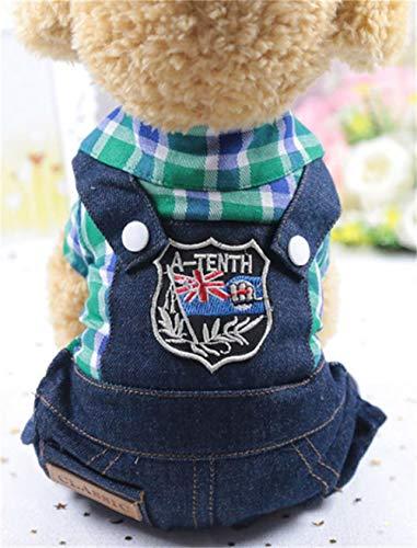 GOUSHENG-Costumes Haustiere Kleidung Kleider Mode Hund Kleidung Frühling Chihuahua Hund Mäntel Jacken Cartoon Overalls Haustier Hund Kleidung Für Kleine Hunde Katzen Haustiere Kleidung, 11, XXL (Hunde Elf Kostüm Xxl)