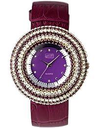 Eton Damen-Armbanduhr Analog Quarz Leder violett 2980J-PL