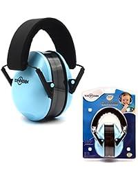 Protecciones auditivas Protección auditiva Orejeras Reducción de ruido ajustable Muñones para niños Junior (Azul)