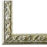 Bilderrahmen Silber - 40 x 50 cm als Leerrahmen - Antik, Barock - Alle Größen - Handgefertigt - Galerie-Qualität - LR - Mantova 3,1