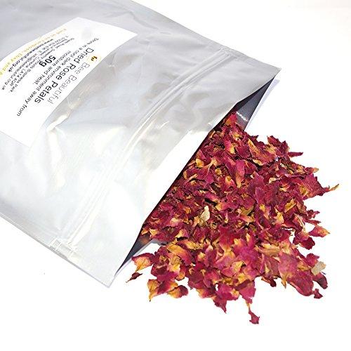 Bee Beautiful 50g Dried Rose Petals in aluminium pouch