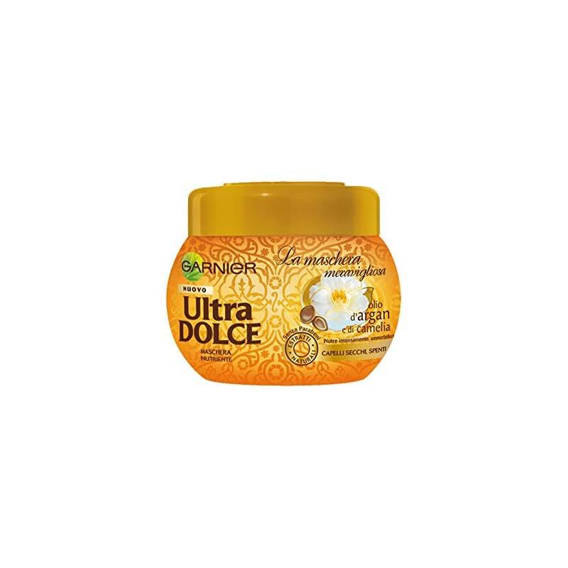 Garnier Ultra Dolce Meravigliosa Maschera Nutriente per Capelli Secchi Spenti