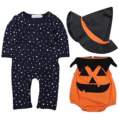 �rbis Kostüm für Babys Karneval Party Kostüm Jumpsuit,L (Baby Halloween Kostüme Kürbis)
