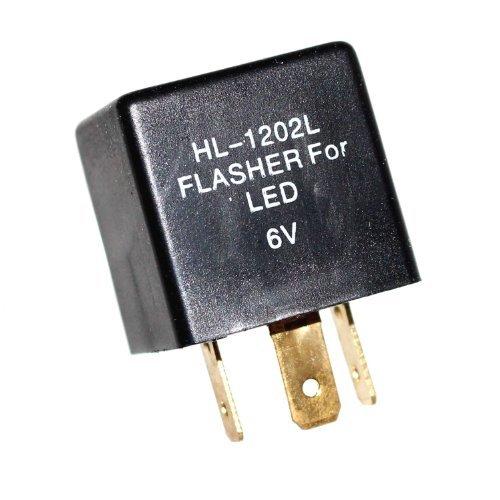 1 Blinker Relais lastunabhängig 6V LED Blinkrelais für OLDTIMER 0,05-20A 3-Polig Blinkgeber Otto-Harvest - Relais 3 Polig