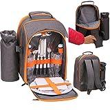 GEEZY Family Picnic Cool Bag Backpack Hamper Wine Cooler Coffee Bottle Holder Carrier