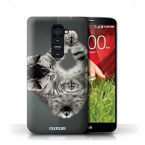 Kobalt® Imprimé Etui / Coque pour LG G2 / Miroir conception / Série Chatons mignons Miroir