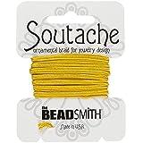 Beadsmith soutache Rayón Cordón 3mm de ancho–Solidago 3YD