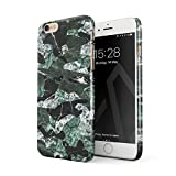 BURGA iPhone 6 / 6s Hülle, Grün Marmor Marble Camo Camouflage Tarnung Muster Mode Designer Dünn, Robuste Rückschale aus Kunststoff Für iPhone 6 / 6s Handyhülle Schutz Case Cover