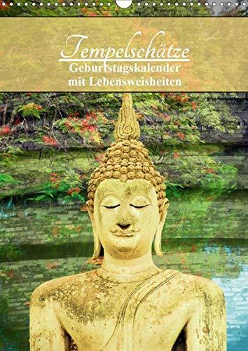 Tempelschätze (Wandkalender 2020 DIN A3 hoch): Geburtstagskalender mit buddh. Weisheiten (Geburtstagskalender, 14 Seiten ) (CALVENDO Gesundheit)