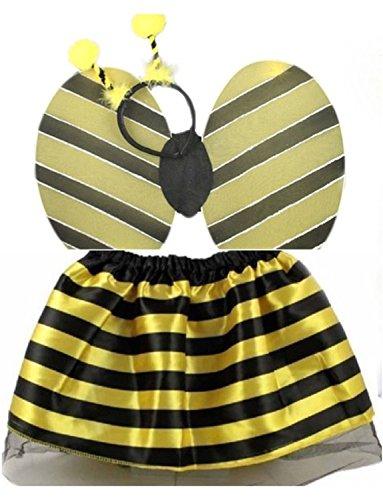 Ladybird Tutu Skirt Bumble Bee Bug Set Fancy Dress Headbands Accessorie (Bumble Bee Set) (Für Bee Bumble Frauen Kostüme)