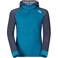 Odlo Shirt L/S Revolution TW Warm with Facemask Kids - blue jewel-navy melange