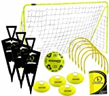 Kickmaster Ultimate Football Challenge Kit d'entraînement Jaune/noir