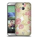 Head Case Designs Vintage Rosen Französische Land Muster Ruckseite Hülle für HTC One M8 / M8 Dual Sim