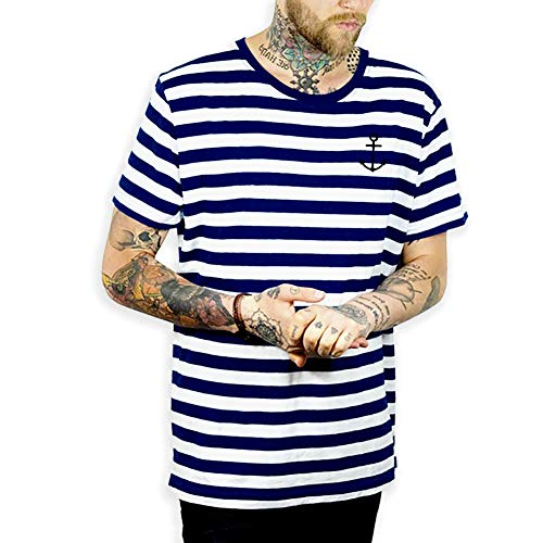 Viento Herren EL Marinero T-Shirt (S, Marineblau)