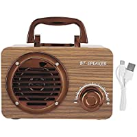 Altavoz Bluetooth, Caja de Altavoz de Madera Vintage para Exteriores con batería Recargable de 1200 mAh Altavoz portátil para Reproductor de música para Oficina, hogar, café, Bar, Tienda, etc.(Suelo)