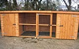 UK Kennels Wilton 12FT X 4FT Double Dog Kennel And Run