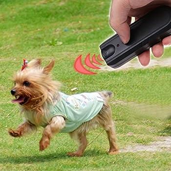 Kofun Chien Répulsif, Ultrasons Barking Stopper Pulvérisateur Portable LED Répulsif pour Animaux de Compagnie Agressif Anti-Écorce Train de Dissuasion Chien