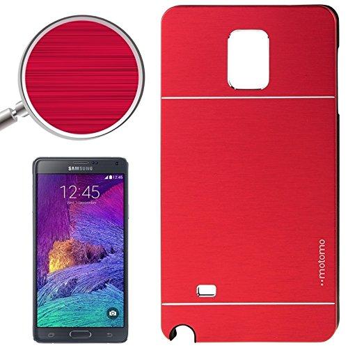 Schützen Sie Ihr Mobiltelefon 2 in 1 gebürsteter Textur Metall & PlastikProtective Fall für Samsung Galaxy Note 4 / N910 für Samsung Handy ( SKU : S-SCS-3914R ) (S Fälle 1 Galaxy Samsung)