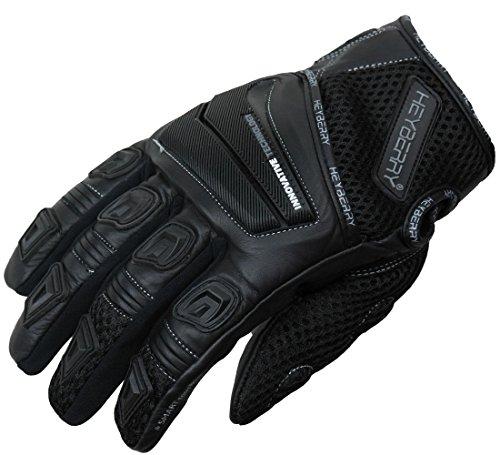 HEYBERRY Motorrad Handschuhe Motorradhandschuhe Sommer schwarz Gr. L