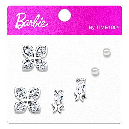 Barbie kronenförmige Ohrringe Frauen mit Zirkon Sterlingsilber Silber 925 Ohrschmuck Damen Modischer Schmuck #BSEH087.02A