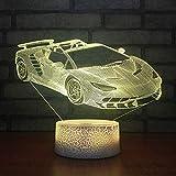 Coche Colorido Decoloración 3D Lámpara Visual Ventas Directas De Fábrica Lámparas De Mesa Para Sala De Estar Blanco Lovely 7 Cambio De Color Lámpara 3D Luces De Dormitorio