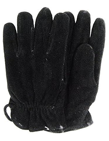 Modestone Unisex Watson Genuine Buckskin Suede Gloves Black Lined 9