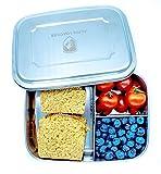 Alpin Loacker Edelstahl Lunchbox Groß 1800ml Brotdose, Bento Box, Vesperdose | mit Fächern, Trennwand | Die große Brotbox Zum Wandern, Reisen, Schule, Kindergarten