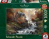 Schmidt Spiele - Thomas Kinkade, Bei der alten Mühle, 1.000 Teile Puzzle