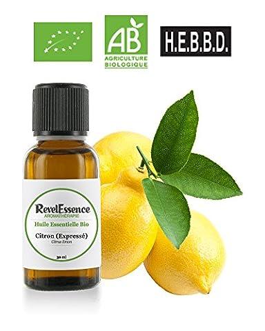 Huile Essentielle de Citron (Expressé) Bio Revelessence (30 ml)