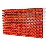 156 teiliges Wandregal Lagerregal Stapelboxen Wandplatten Orange POP Serie Gr. 1 Lager