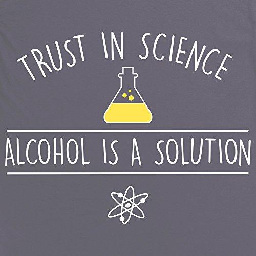 Trust In Science T-Shirt, Herren Anthrazit