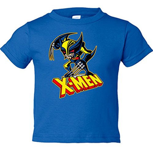 Camiseta niño X-Men lobezno - Azul Royal, 18-24 meses