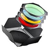Kit walimex coupe-flux/grille nid d'abeille/filtres couleur