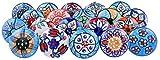 Lot de 20poignées de portes en céramique assorties aux motifs floraux vintage pour placard, tiroir et...