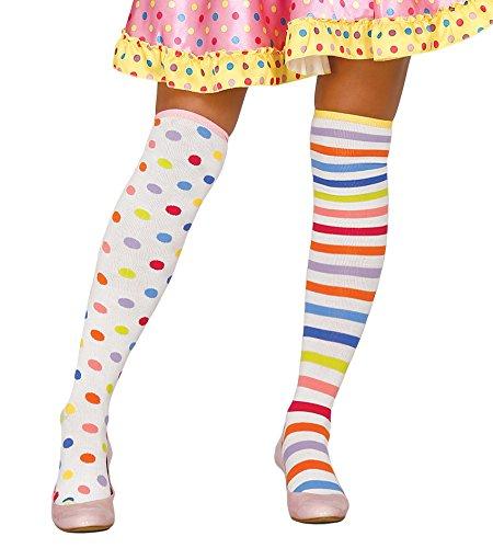 561 - gepunktelte und gestreifte Clown-Strumpfhosen (Disfraces De Halloween-party Fiesta)