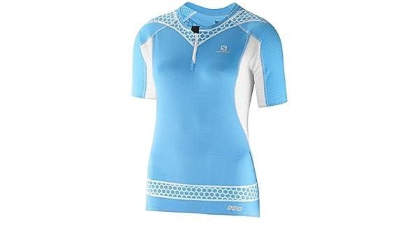 Tee Trail Lab Shirt Femme Exo T S Bleu Zip Salomon W xq8aTwZ